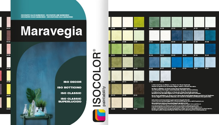 Discover the new decorative color chart Maravegia